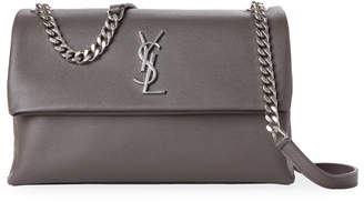 Saint Laurent Grey West Hollywood Leather Shoulder Bag