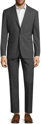 Vince Camuto Printed Criss-Cross Wool Formal Suit