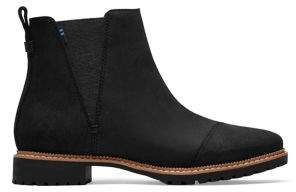 Toms Water Resistant Leather Cleo Lug Sole Boots