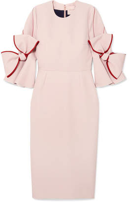 Roksanda Lavete Bow-embellished Crepe Midi Dress - Blush