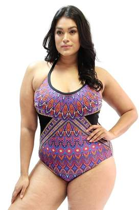 Moontide Pompeii E/F Cup Scoop Neck One Piece
