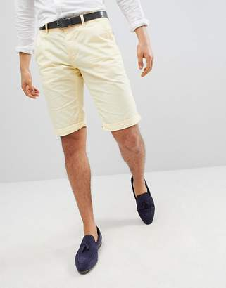Esprit Slim Fit Chino Shorts In Yellow