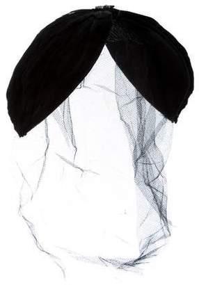 Maison Michel Feather-Accented Veil