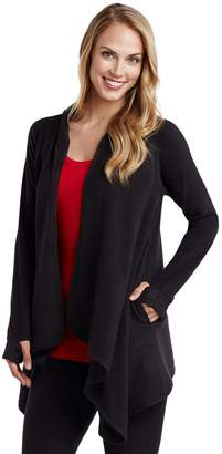 Cuddl Duds Women's Fleece Hooded Wrap Cardigan