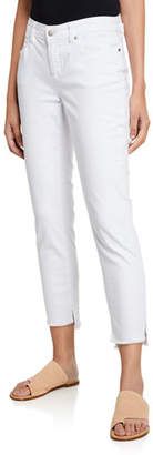 Eileen Fisher Frayed Step-Hem Slim Jeans