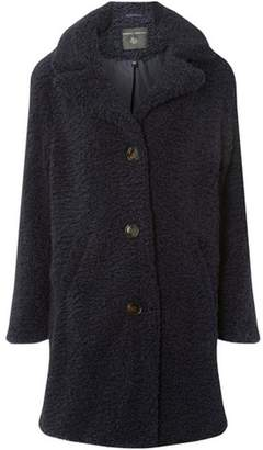 Dorothy Perkins Womens Navy Button Front Teddy Coat