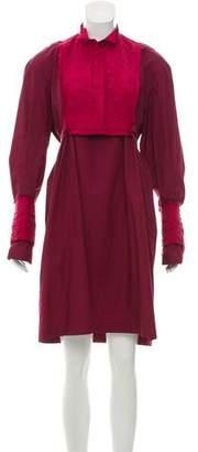 Sacai Embroidered Knee-Length Dress