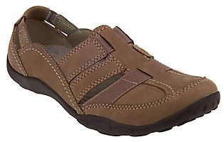 Clarks Nubuck Slip-On Shoes w/ Elastic - HaleyStork
