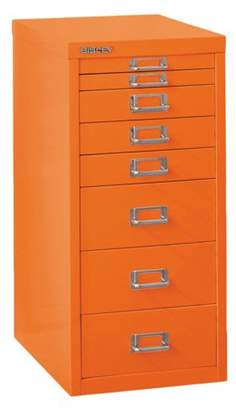 Bisley Steel 8-Drawer Under the Desk Multidrawer Storage Cabinet