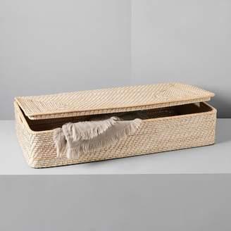 west elm Modern Weave Underbed Storage Basket - Whitewashed