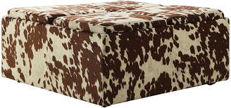 Inspire Q Cow Hide Storage Ottoman