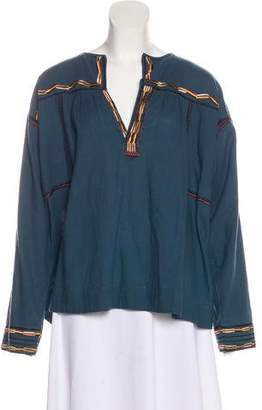 Etoile Isabel Marant Embroidered Oversize Top