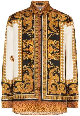 Versace Baroque silk shirt