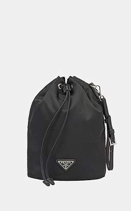 9bd76698a82  360 PradaWomen s Leather-Trimmed Small Bucket Bag - Black