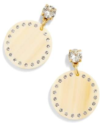 J.Crew Acrylic Disc Drop Earrings