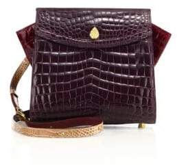 Adina Small Crocodile Crossbody Bag