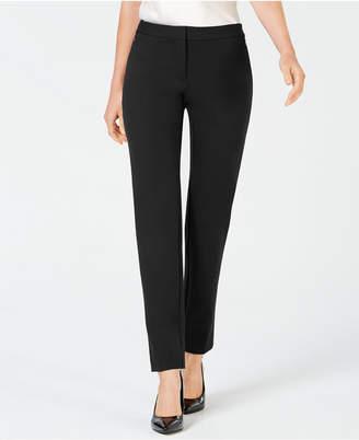 Alfani Petite Ponte-Knit Slim-Leg Pants