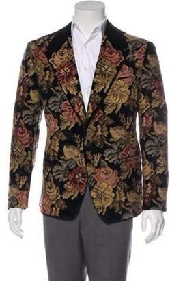Dolce & Gabbana Floral Embroidered Velvet Sport Coat