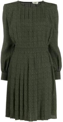 Fendi printed crepe mini-dress