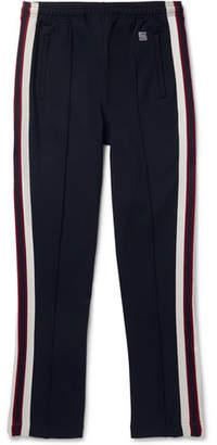 Sandro Slim-Fit Tapered Webbing-Trimmed Jersey Sweatpants