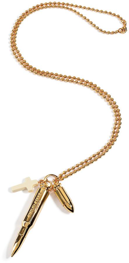 Emilio Pucci Gold-Tone Charm Necklace
