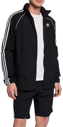 adidas Men's Three-Stripe Wind-Resistant Jacket