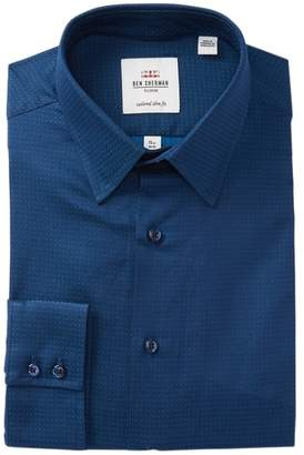 Ben Sherman Solid Dobby Tailored Slim Fit Dress Shirt