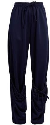 J.W.Anderson Draped-drawstring jersey track pants