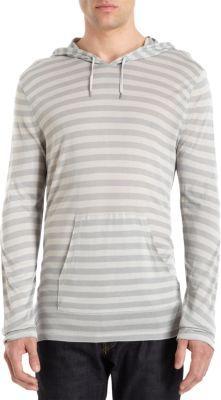 John Varvatos Striped Pullover Hoodie