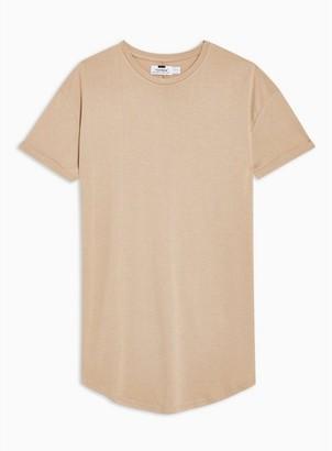 Topman Mens Beige Stone Premium T-Shirt
