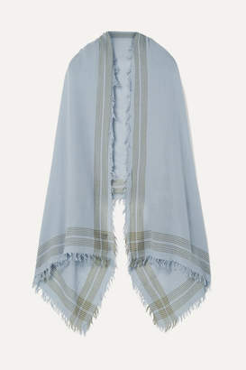 Rag & Bone Nassau Striped Wool Scarf - Light blue