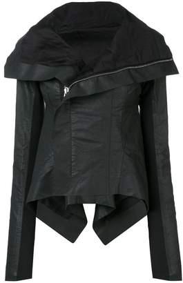 Rick Owens coated biker jacket