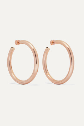 Jennifer Fisher Samira Rose Gold-plated Hoop Earrings - one size