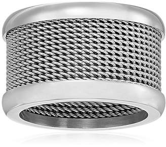 Ladies Stainless Steel Mesh Band 13mm Ring