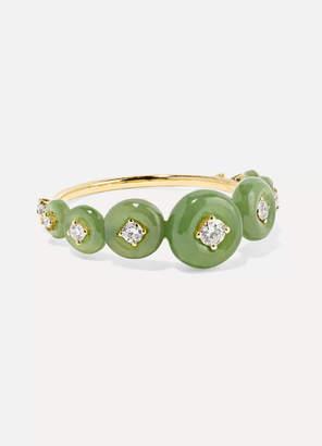 Fernando Jorge Surround 18-karat Gold, Nephrite Jade And Diamond Ring