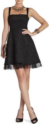 BCBGMAXAZRIA Kaya Fitted-Bodice Cocktail Dress