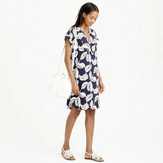 Petite tropical frond shift dress $98 thestylecure.com