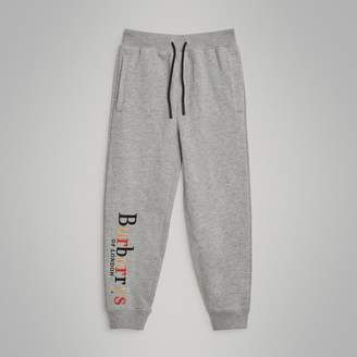 Burberry Embroidered Archive Logo Cotton Trackpants
