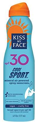Kiss My Face Cool Sport Mineral Continuous Spray Sunscreen SPF 30 Sunblock
