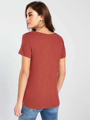 b6ca82cc3 V Neck Front And Back T Shirt - ShopStyle UK