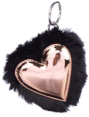 Stella McCartney Fur Heart Vegan Keychain w/ Tags