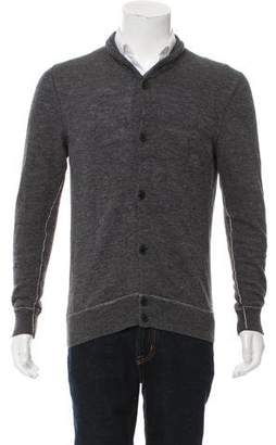 Theory Woven Button-Up Cardigan