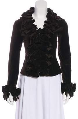Ann Fontaine Ruffled Long Sleeve Jacket