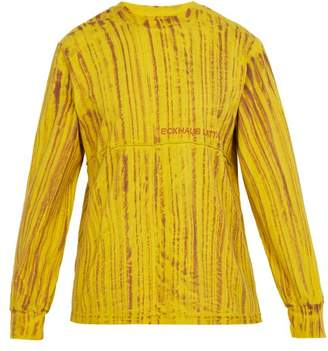 Eckhaus Latta Lapped Hand Dyed Cotton Shirt - Mens - Yellow