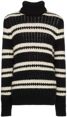 Saint Laurent striped turtleneck sweater