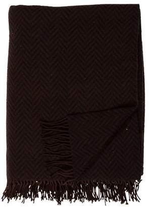 Hermes Wool Fringe Throw Blanket
