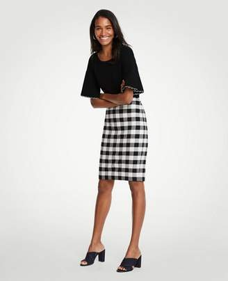 Ann Taylor Tall Gingham Pencil Skirt