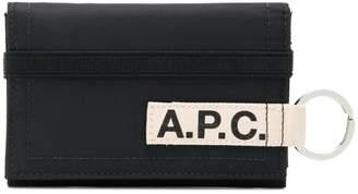 A.P.C. logo keyring wallet
