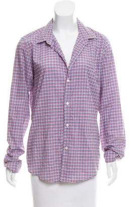Frank And Eileen Barry Plaid Top