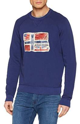 Napapijri Men's Babos Crew S Sweatshirt, (Blue Depths Ba3)